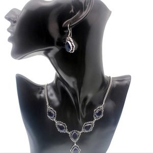 NEW Necklace Earring Set 925 Sterling Silver